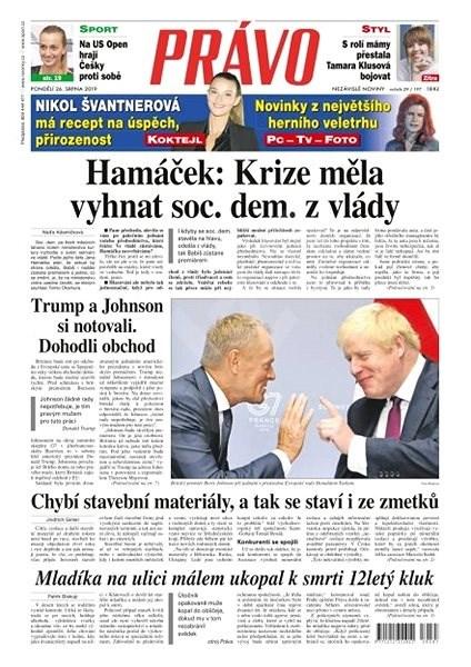 Právo - 26-08-2019 - Elektronické noviny