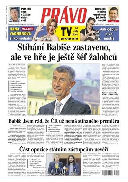 Právo - 14-09-2019 - Elektronické noviny