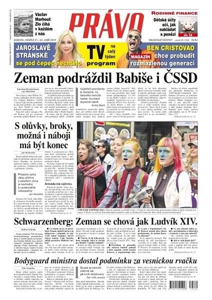 Právo - 21-09-2019 - Elektronické noviny