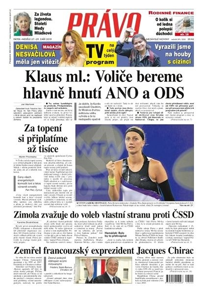 Právo - 27-09-2019 - Elektronické noviny