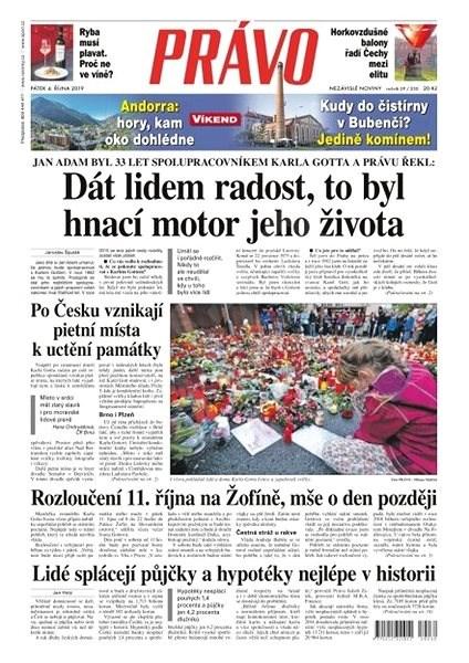 Právo - 04-10-2019 - Elektronické noviny
