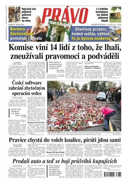 Právo - 09-10-2019 - Elektronické noviny