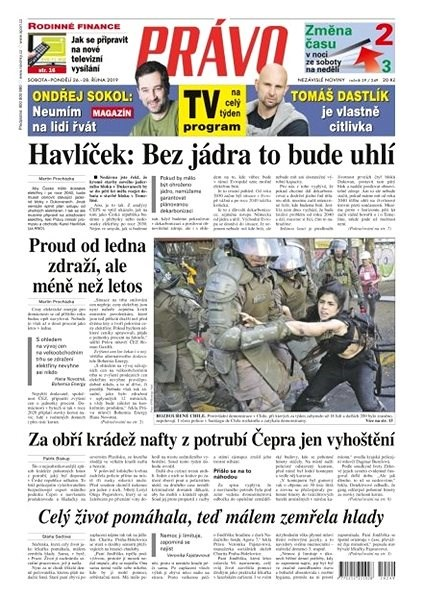 Právo - 26-10-2019 - Elektronické noviny