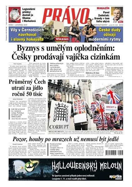 Právo - 01-11-2019 - Elektronické noviny
