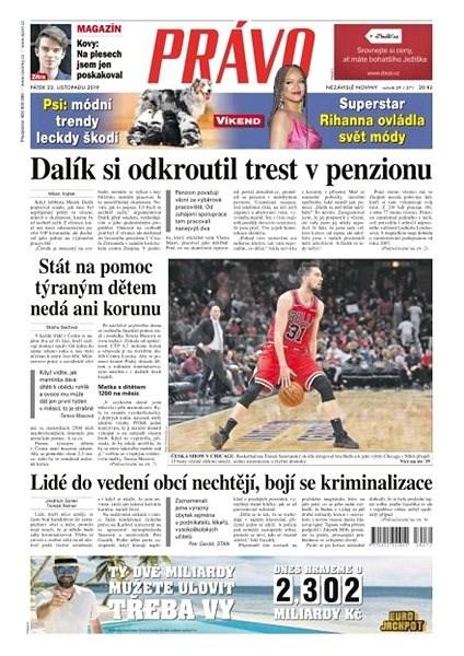 Právo - 22-11-2019 - Elektronické noviny