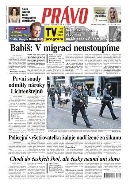 Právo - 30-11-2019 - Elektronické noviny