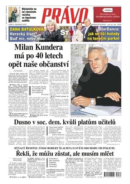 Právo - 03-12-2019 - Elektronické noviny