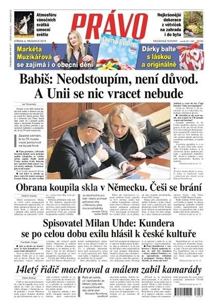 Právo - 04-12-2019 - Elektronické noviny