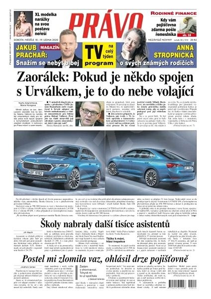 Právo - 18-01-2020 - Elektronické noviny