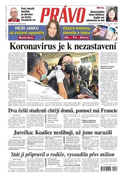 Právo - 27-01-2020 - Elektronické noviny