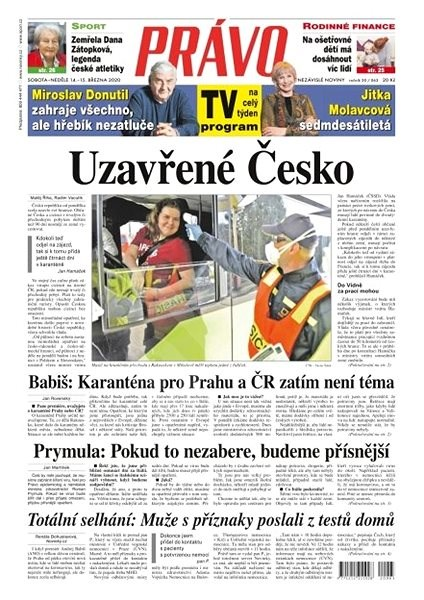 Právo - 14-03-2020 - Elektronické noviny