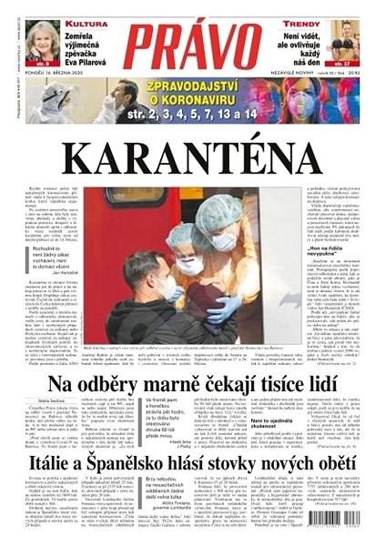 Právo - 16-03-2020 - Elektronické noviny