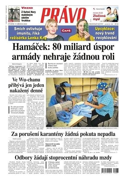 Právo - 19-03-2020 - Elektronické noviny