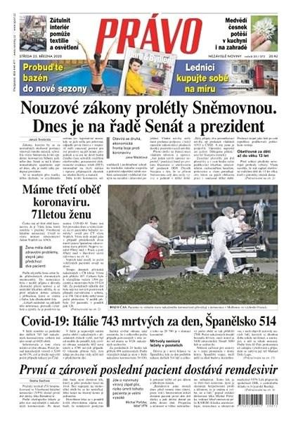 Právo - 25-03-2020 - Elektronické noviny
