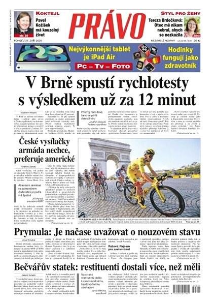 Právo - 21-09-2020 - Elektronické noviny