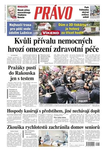 Právo - 25-09-2020 - Elektronické noviny