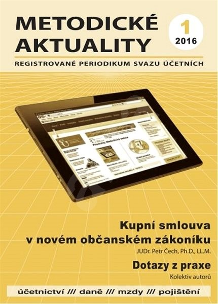 Metodické aktuality - 1/2016 - Elektronický časopis