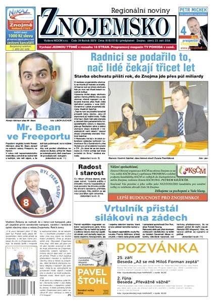 Regionální noviny Znojemsko - 39/2014 - Elektronické noviny