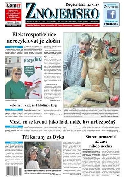 Regionální noviny Znojemsko - 23/2017 - Elektronické noviny