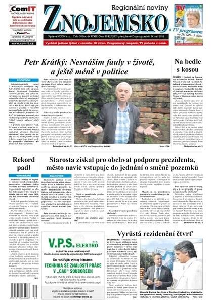 Regionální noviny Znojemsko - 39/2018 - Elektronické noviny