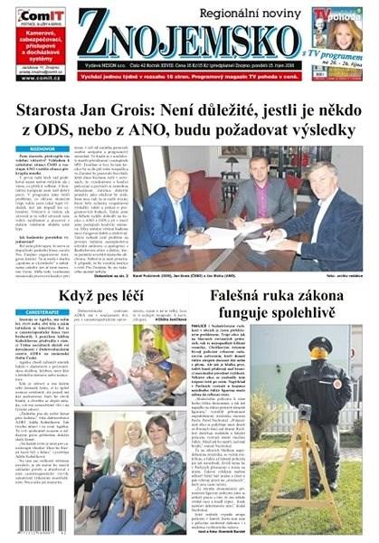 Regionální noviny Znojemsko - 42/2018 - Elektronické noviny