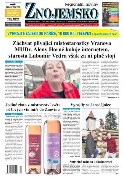 Regionální noviny Znojemsko - 19/2019 - Elektronické noviny