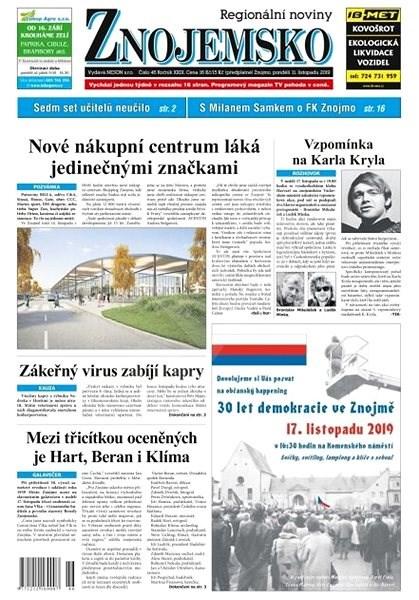 Regionální noviny Znojemsko - 46/2019 - Elektronické noviny