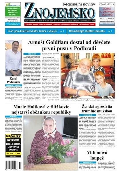 Regionální noviny Znojemsko - 33/2020 - Elektronické noviny
