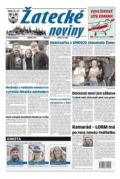 Žatecké noviny - 36/2017 - Elektronické noviny