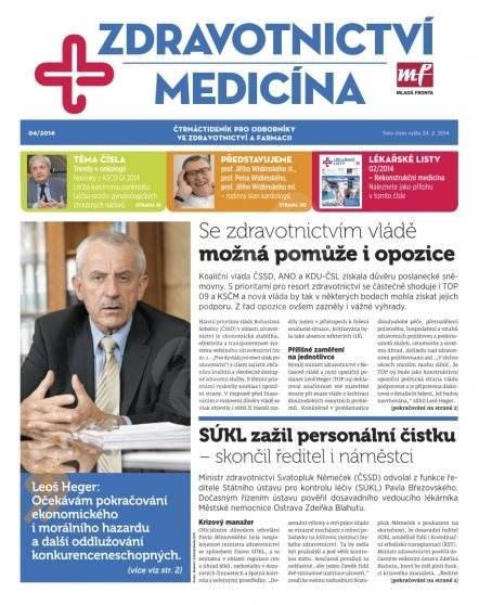 Zdravotnictví a medicína - 4/2014 - Elektronický časopis