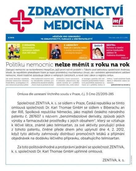 Zdravotnictví a medicína - 5/2016 - Elektronický časopis