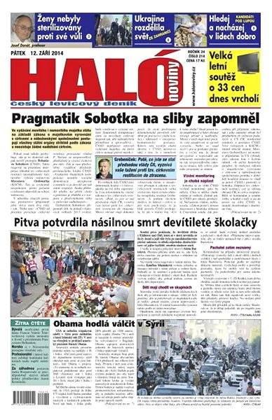 Haló noviny - 12_09_2014 - Elektronické noviny