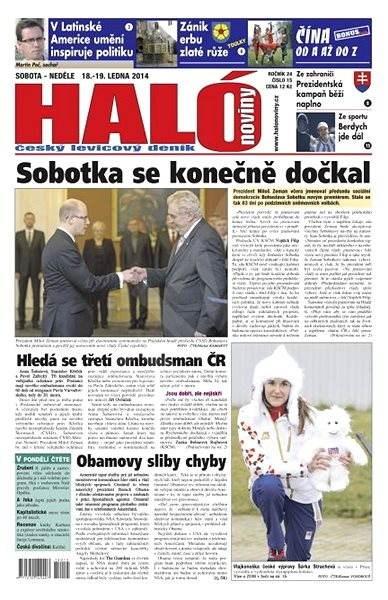 Haló noviny - 18_01_2014 - Elektronické noviny