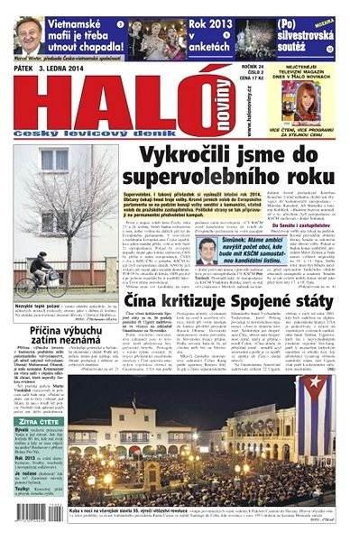 Haló noviny - 03_01_2014 - Elektronické noviny