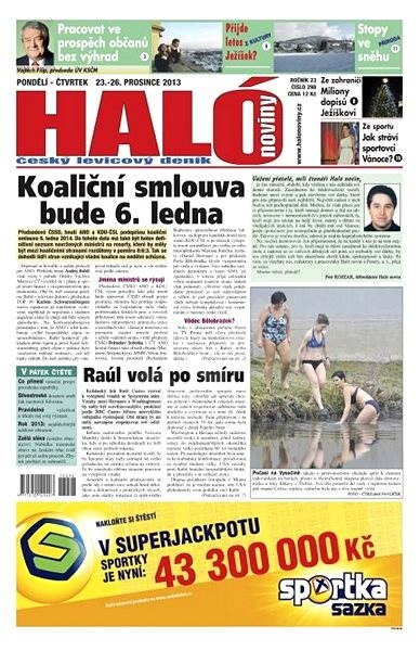 Haló noviny - 23_12_2013 - Elektronické noviny