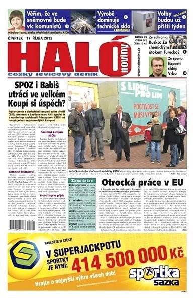 Haló noviny - 17_10_2013 - Elektronické noviny