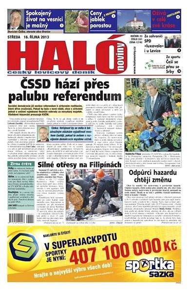 Haló noviny - 16_10_2013 - Elektronické noviny