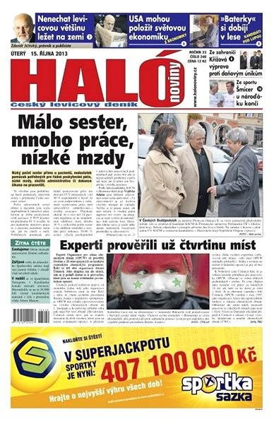 Haló noviny - 15_10_2013 - Elektronické noviny