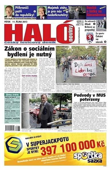 Haló noviny - 11_10_2013 - Elektronické noviny