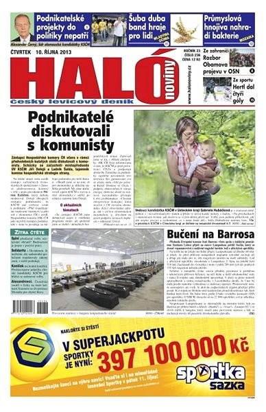 Haló noviny - 10_10_2013 - Elektronické noviny