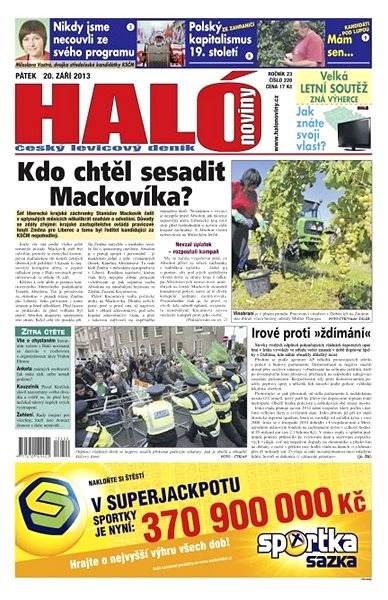 Haló noviny - 20_09_2013 - Elektronické noviny
