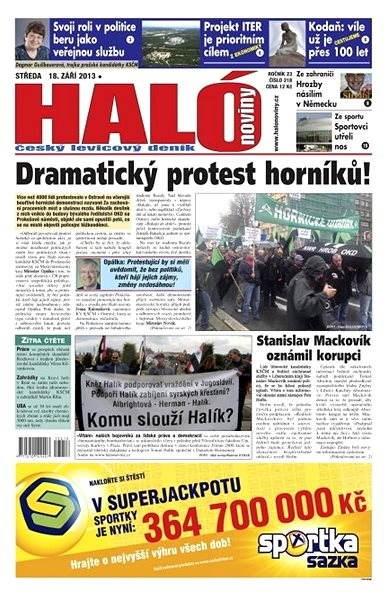 Haló noviny - 18_09_2013 - Elektronické noviny