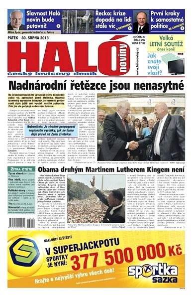 Haló noviny - 30_08_2013 - Elektronické noviny
