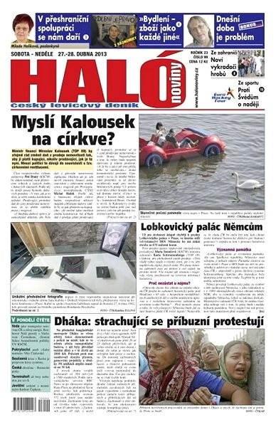 Haló noviny - 27_04_2013 - Elektronické noviny