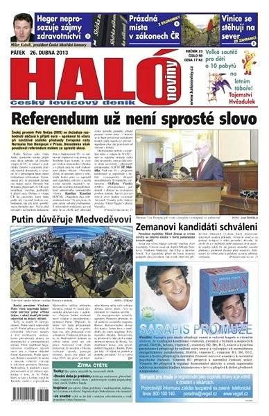 Haló noviny - 26_04_2013 - Elektronické noviny