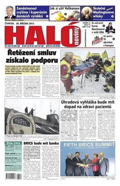 Haló noviny - 28_03_2013 - Elektronické noviny