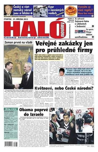 Haló noviny - 21_03_2013 - Elektronické noviny
