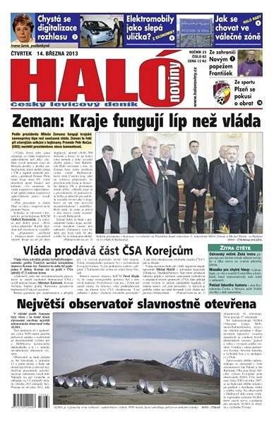 Haló noviny - 14_03_2013 - Elektronické noviny