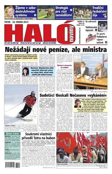 Haló noviny - 22_02_2013 - Elektronické noviny