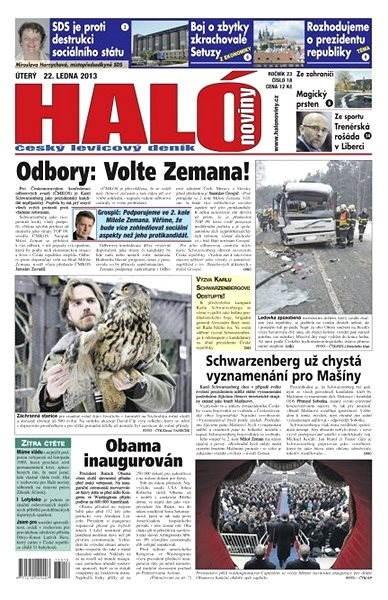 Haló noviny - 22_01_2013 - Elektronické noviny